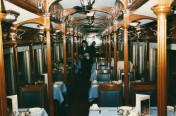 Static dining car at Cape Town station at Xmas 1984